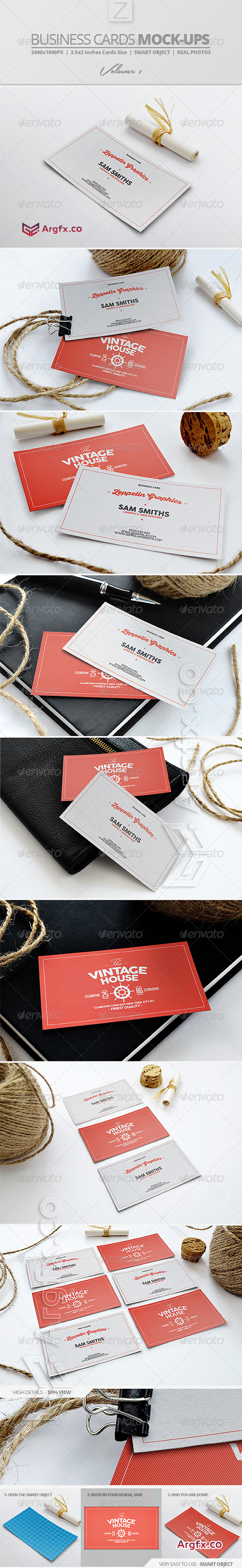 Business Card Mock-ups Vol.1 7855204