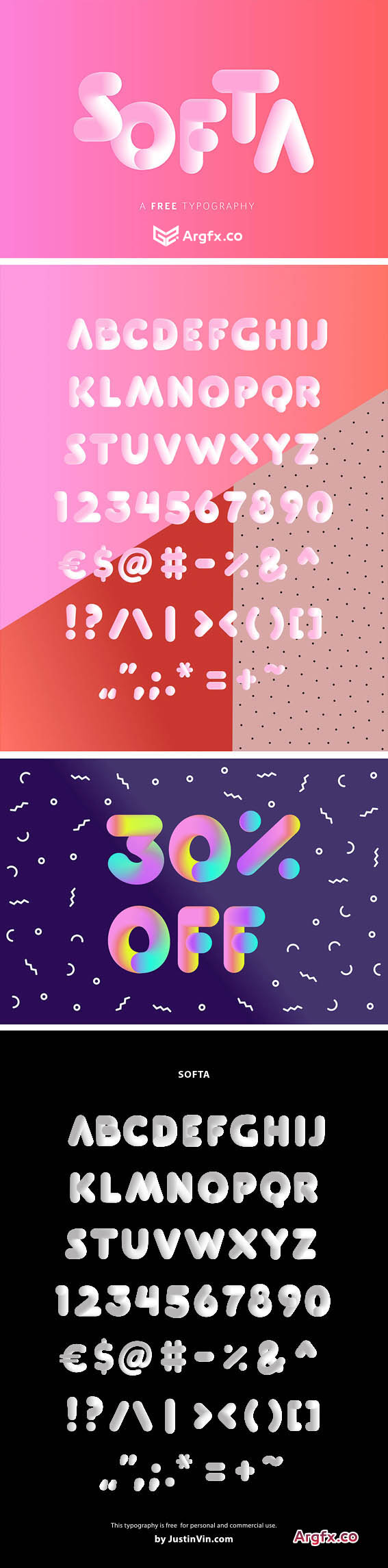 Softa Vector Typeface in PDF