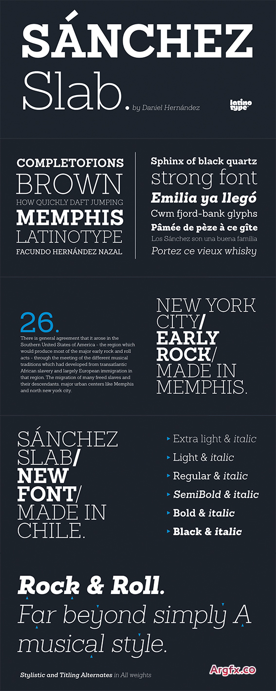 Sanchez Slab Font Family - 12 Fonts for $126